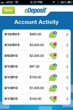 Account Activity Mobile